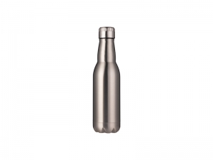 17oz/500ml Stainless Steel Beer Bottle (Silver)