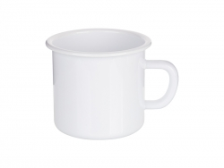 17oz/500ml Enamel Mug with White Rim