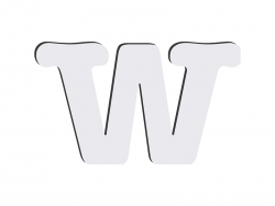Sublimation HB Letters -W (10*10cm)