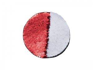 Flip Sequins Adhesive (Round, Red W/ White)