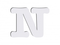 Sublimation HB Letters -N (10*10cm)