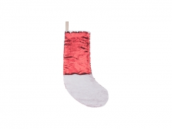 Sequin Christmas Stocking (Red/White)