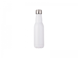 17oz/500ml Stainless Steel Beer Bottle (White)