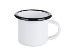 3oz/100ml Enamel Mug (Black Edge)