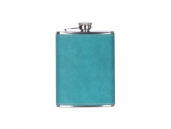 8oz/240ml Stainless Steel Flask with PU Cover (Green)