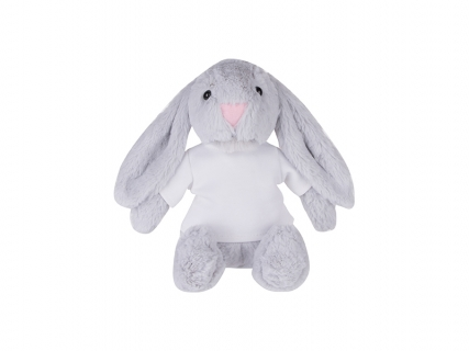 22cm Plush Bunny w/ Shirt (Light Gray)