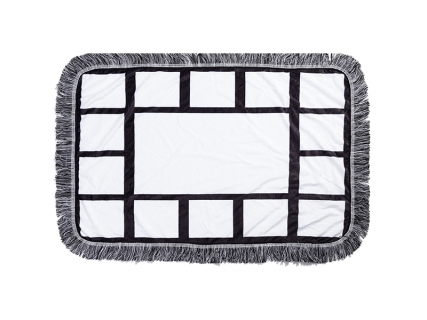 "Sublimation 15 Panel Plush Throw Blanket (50*80cm/19.7""x31.5"")"