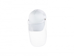 Sublimation Adult Mesh Cap w/ Removable Face Shield (White)
