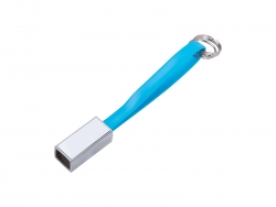 Sublimation Portable Data Cable Keychain (Small, Blue)