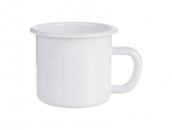 12oz/360ml Enamel Mug (White Edge) MOQ: 3000pcs