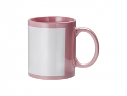 Sublimation 11oz Full Colour Mug w/ White Patch(Pink)