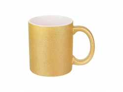 Sublimation 11oz/330ml Glitter Mug (Gold)