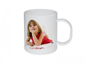 11oz Sublimation Plastic White Mug