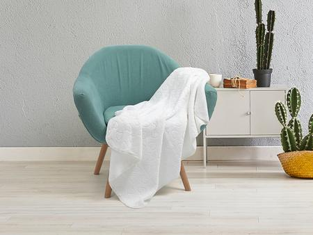 "Heart Embossed Sublimation Minky Blanket(White, 127*152cm/50""x 60"")"