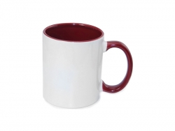 11oz Inner Rim Color Mug - Maroon