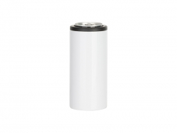12oz/350ml Sublimation Stainless Steel Skinny Can Cooler(White)