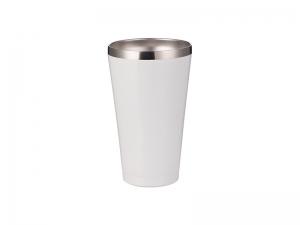 15oz/450ml Stainless Steel Tumbler w/o Lid (White)