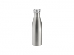 17oz/500ml Stainless Steel Milk Bottle (Silver)