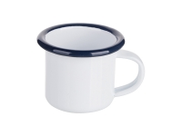 3oz/100ml Enamel Mug (Blue Edge)