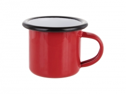 3oz/100ml Enamel Mug (Red, Black Edge)
