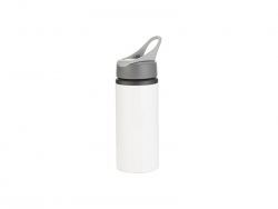 22oz/650ml Aluminum Bottle w/ Handle(White)