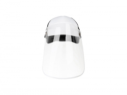 Sublimation Adult Mesh Cap w/ Removable Face Shield (Black)
