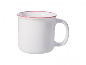 10oz/300ml Ceramic Enamel Mug (Pink)