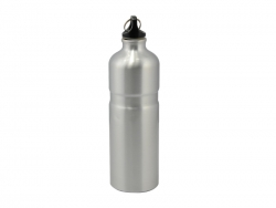 750ml Alluminum Water bottle (Silver)