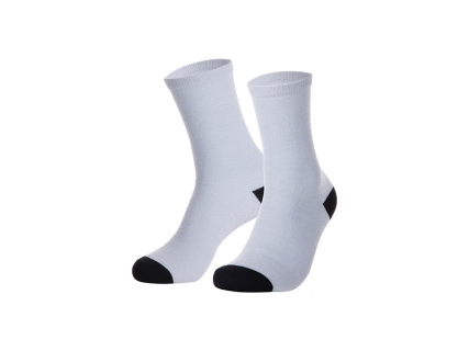 Sublimation Silver Silk Glitter Socks (7.5*35cm)