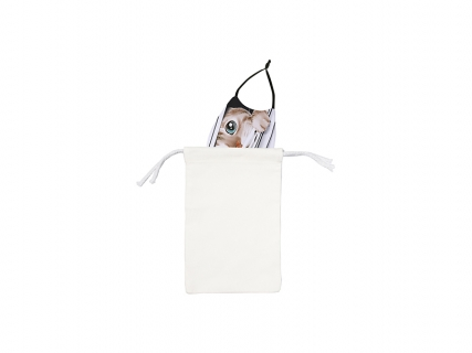 13.5*21cm Sublimation Canvas Face Mask Storage Bag