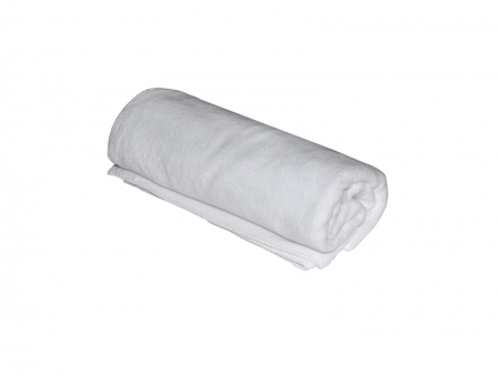 White Double-Side Flannel Roll Material