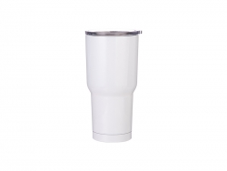 30oz Stainless Steel Tumbler (White)
