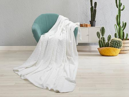 "Heart Embossed Sublimation Minky Blanket(White, 152*203cm/60""x 80"")"