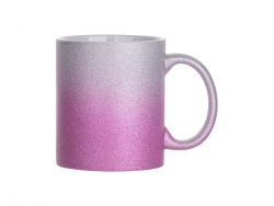 Sublimation 11oz/330ml Gradient Bottom Glitter Mug (Silver & Purple)