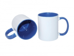 11oz Inner Rim Color Mug - Medium Blue
