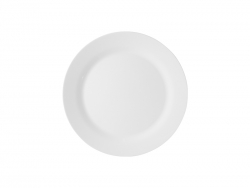 10 in. White Plastic Plate