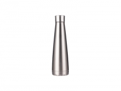 14oz/420ml Stainless Steel Pyramid Shaped Bottle (Silver)