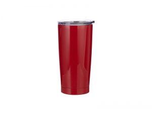 20oz Stainless Steel Tumbler (Red)