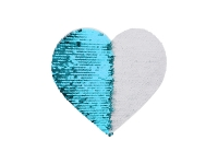 19*22cm Flip Sequins Adhesive White Base (Heart, Light Blue W/ White)
