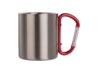 200ml Stainless Steel Mug w/ Carabiner Handle MOQ: 3000pcs