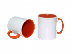 10oz Inner Rim Color Mug (Orange)