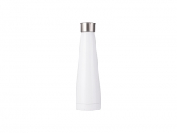 14oz/420ml Stainless Steel Pyramid Shaped Bottle (White)