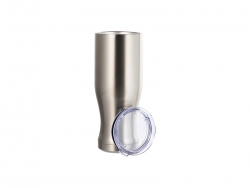 20oz/600ml Sublimation Stainless Steel Pilsner Style Tumbler (Silver)
