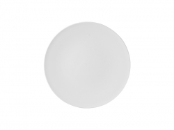 8 in. White Plastic Plate