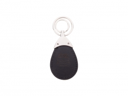 PU Leather Key Chain (Water drop, Black)