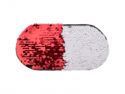 Flip Sequins Adhesive (Oval,Red W/ White)