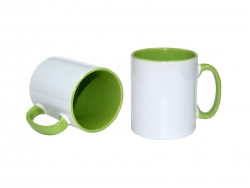 10oz Inner Rim Color Mug (Light Green)