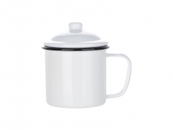 23oz/700ml Enamel Mug w/ Lid (Black)