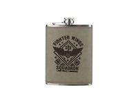 8oz Stainless Steel Flask with PU Cover (Rawhide)