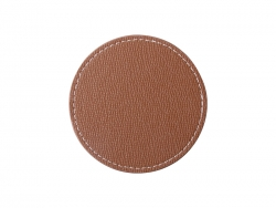 PU Leather Round Mug Coaster (Φ9.5cm,Brown)